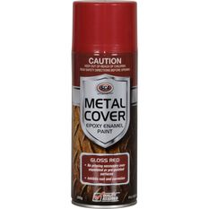 SCA Metal Cover Enamel Rust Paint - Gloss Red, 300g, , scaau_hi-res
