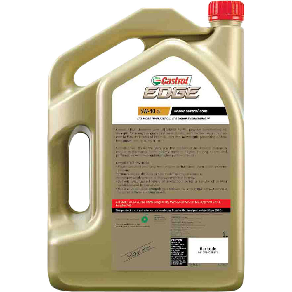 Flot Castrol EDGE Engine Oil - 5W-40, SN, 6 Litre | Supercheap Auto MV-07