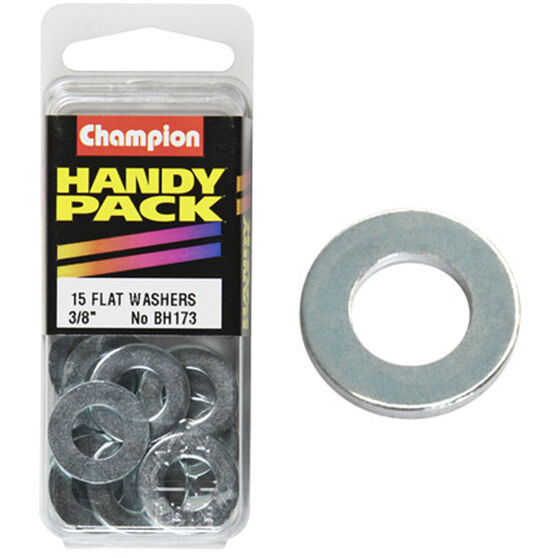 Champion Flat Steel Washers - 3 / 8inch, BH173, Handy Pack, , scaau_hi-res