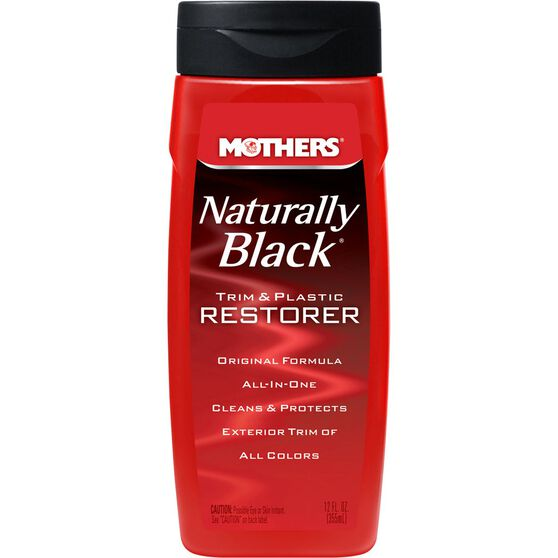 Mothers Naturally Black Trim and Plastic Restorer - 355mL, , scaau_hi-res
