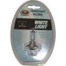 SCA White Light Performance Globes - 12V, 55W, H7, , scaau_hi-res