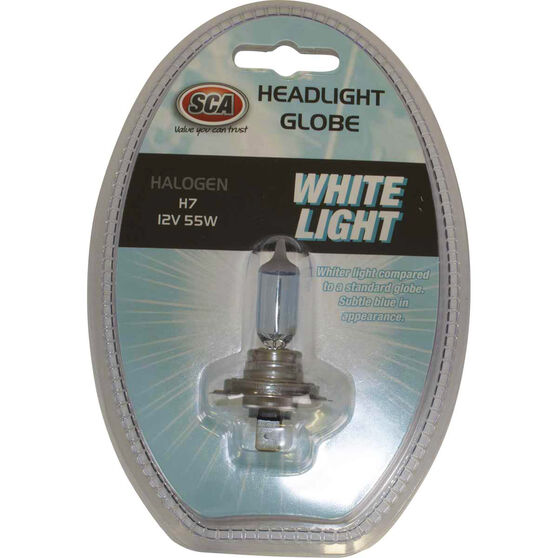 SCA White Light Performance Globes - 12V, 55W, H7, , scaau_hi-res