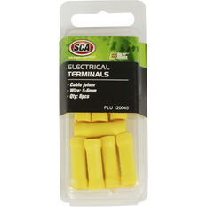 SCA Electrical Terminals - Cable Joiner, Yellow, 8 Pack, , scaau_hi-res