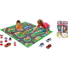 Kids Road Playmat With Vehicles & Signs, , scaau_hi-res
