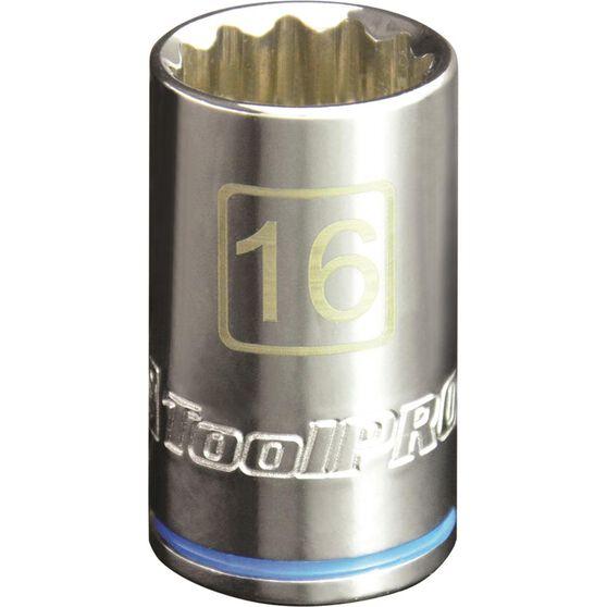 "ToolPRO Single Socket 1/2"" Drive 16mm, , scaau_hi-res"