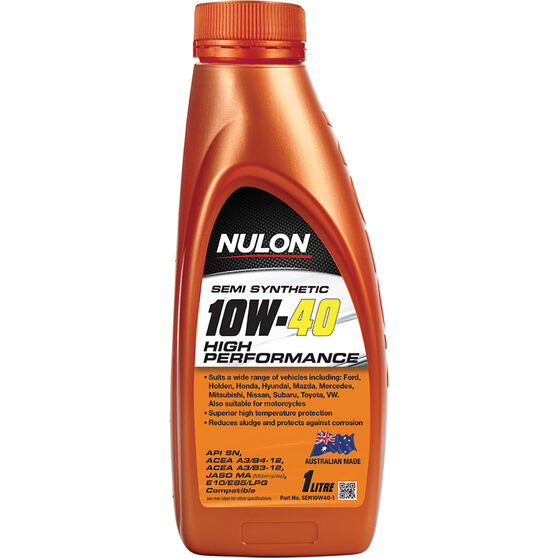 Nulon Semi Synthetic High Performance Engine Oil - 10W-40 1 Litre, , scaau_hi-res