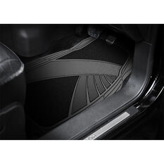 Armor All Combination Car Floor Mats Carpet/PVC Black Set of 4, , scaau_hi-res