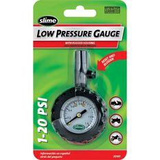 Slime Low Pressure Tyre Gauge - 1-20 PSI, , scaau_hi-res