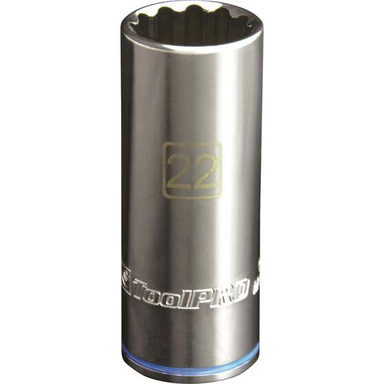 ToolPRO Single Socket - Deep, 1 / 2 inch Drive, 22mm, , scaau_hi-res