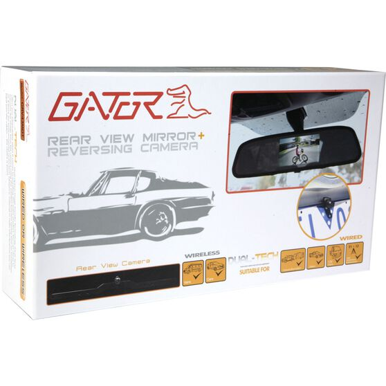 Gator Rear View Mirror and Camera Kit - Wired, 4.3inch, GRV43MDT, , scaau_hi-res