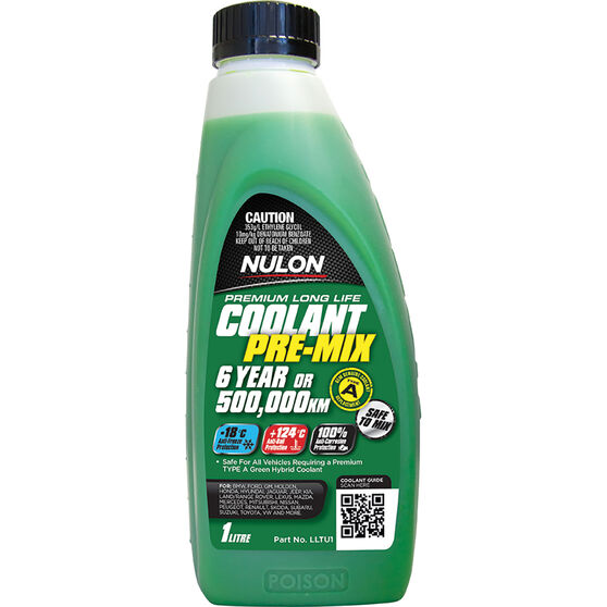 Nulon Green Premium Long Life Coolant Premix 1 Litre, , scaau_hi-res