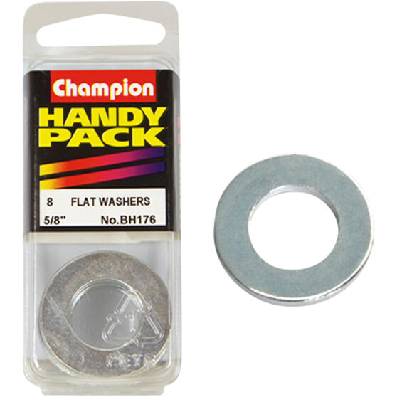 Champion Flat Steel Washers - 5 / 8inch, BH176, Handy Pack, , scaau_hi-res