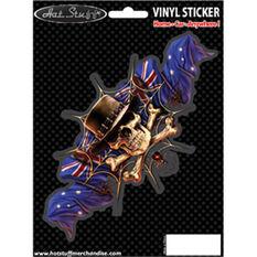 Sticker - Aussie Hat Skull, Vinyl, , scaau_hi-res