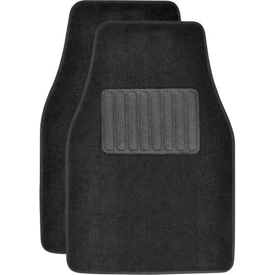 SCA Car Floor Mats - Carpet, Black, Front Pair, , scaau_hi-res