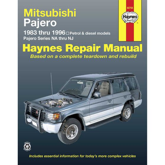 Haynes Car Manual For Mitsubishi Pajero 1983-1996 - 68765, , scaau_hi-res