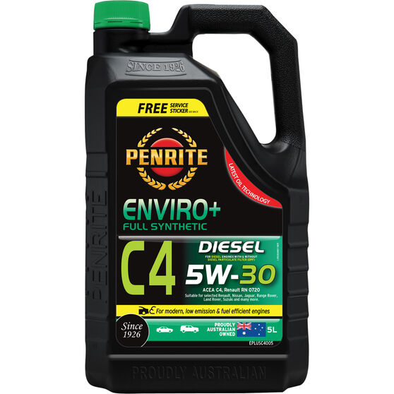 Penrite Enviro+ C4 Engine Oil - 5W-30 5 Litre, , scaau_hi-res