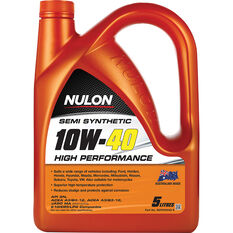 Nulon Semi Synthetic High Performance Engine Oil 10W-40 5 Litre, , scaau_hi-res
