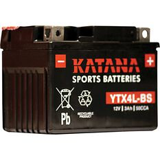 Powersports Battery -  YTX4L-BS, , scaau_hi-res