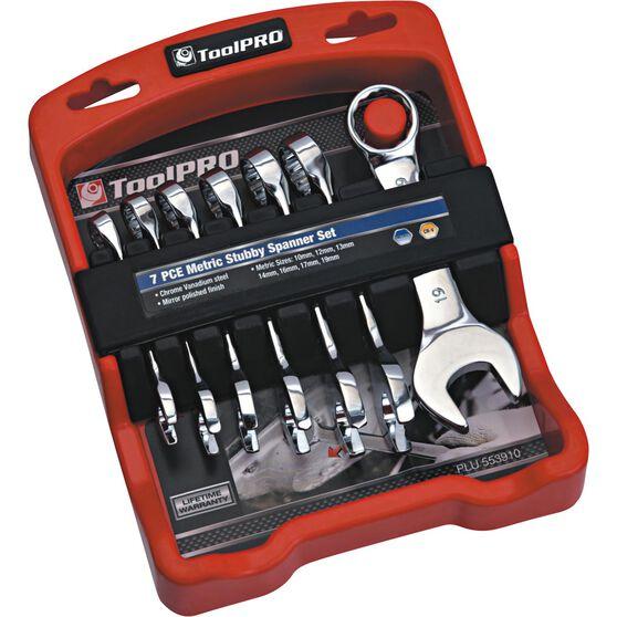 ToolPRO Spanner Set - Stubby, 7 Piece, Metric, , scaau_hi-res