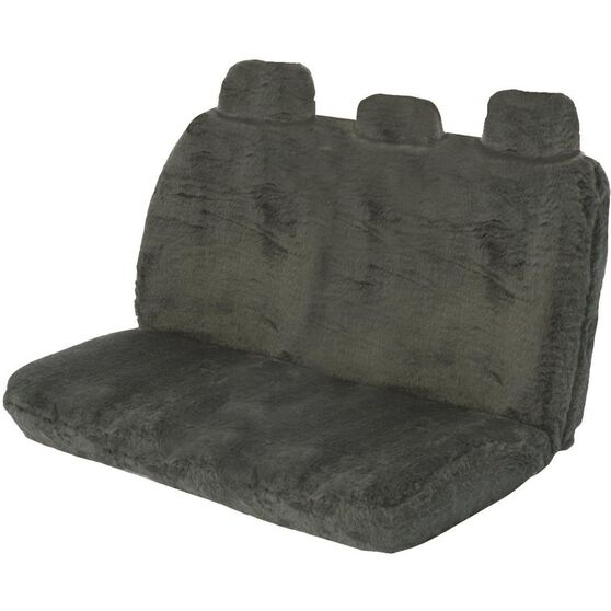 SCA Comfort Fur Seat Cover - Slate, Adjustable Headrests, Size 06H, Rear Seat, , scaau_hi-res