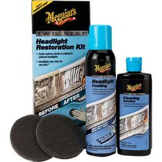 Meguiar's Two Step Headlight Restoration Kit, , scaau_hi-res