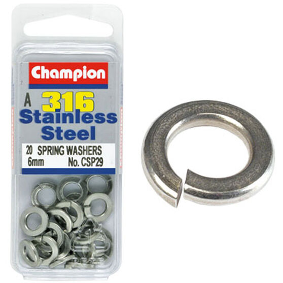 Champion Spring Washers - 6mm 6mm, , scaau_hi-res