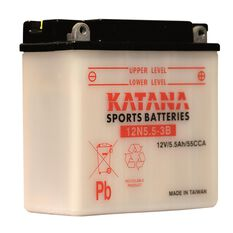 Katana Powersports Battery 12N5.5-3B, , scaau_hi-res