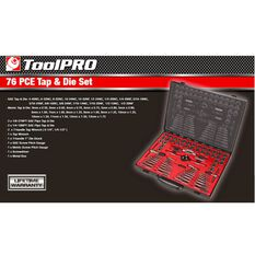 ToolPRO Tap and Die Set Metric and Imperial 76 Piece, , scaau_hi-res