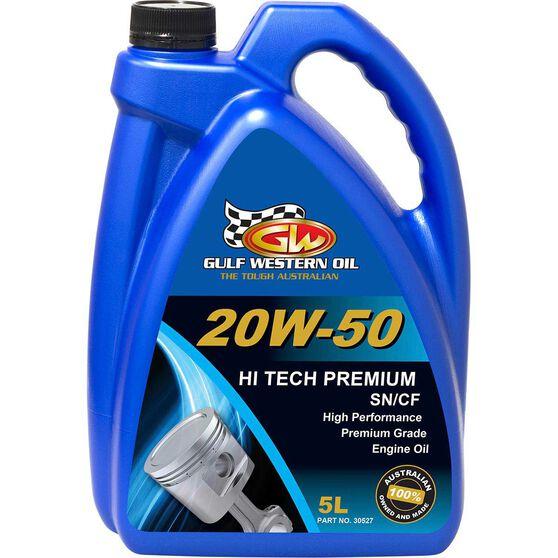 Gulf Western Hi Tech Premium Engine Oil - 20W-50, 5 Litre, , scaau_hi-res