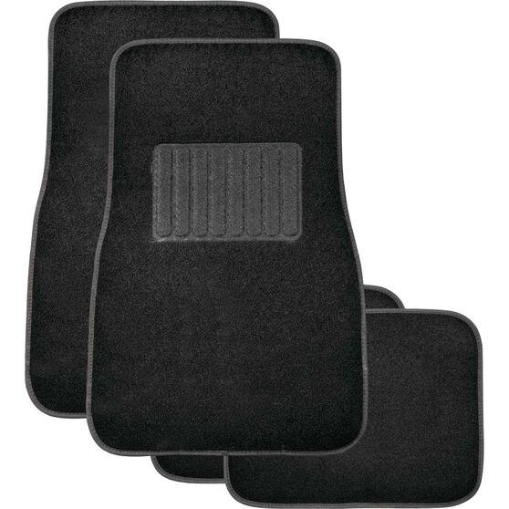 SCA Premier Car Floor Mats - Carpet, Black, Set of 4, , scaau_hi-res