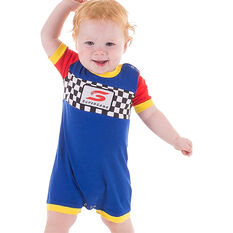 Supercars Babies Short Coverall - Blue, , scaau_hi-res