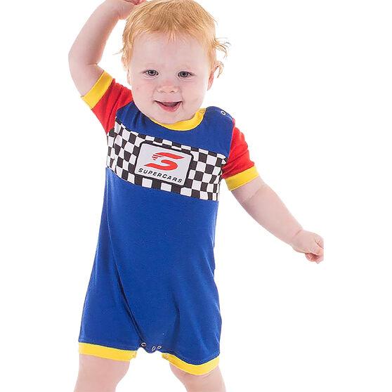 Supercars Babies Short Coverall - Blue, , scaau_hi-res