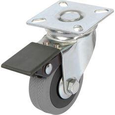SCA Caster Wheel - 50 x 17mm, Plastic Brake, Swivel, , scaau_hi-res