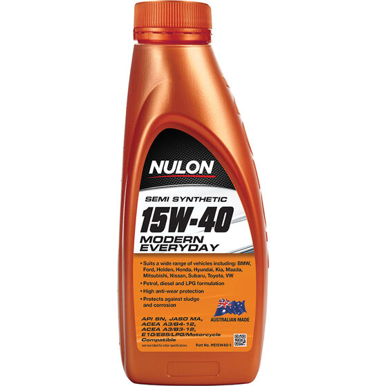 Nulon Semi Synthetic Modern Everyday Engine Oil 15W-40 1 Litre, , scaau_hi-res