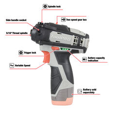 ToolPRO Polisher 2 Speed Skin 12V, , scaau_hi-res