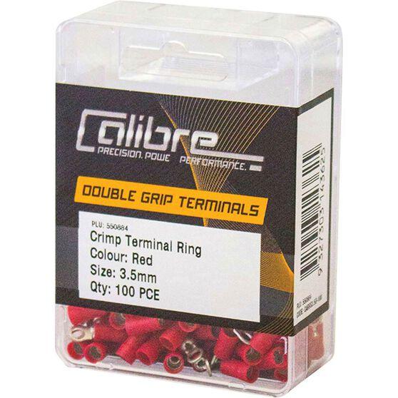 Crimp Terminal Ring Red 3.5mm 100Pk, , scaau_hi-res