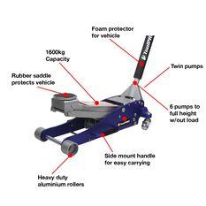 ToolPRO Hybrid Trolley Jack - 1600kg, , scaau_hi-res