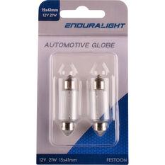 Enduralight Festoon Bulb - 12V, 21W, 15 x 41, ENDG1035, , scaau_hi-res