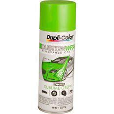 Dupli-Color Aerosol Paint Custom Wrap Matte Sublime Green 311g, , scaau_hi-res