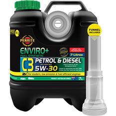 Penrite Enviro+ C3 Engine Oil 5W-30 7 Litre, , scaau_hi-res