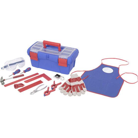 Kids 16 piece tool kit with toolbox, , scaau_hi-res