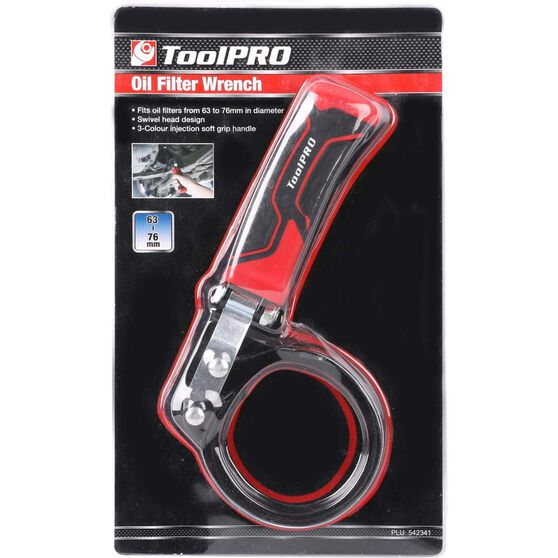 ToolPRO Oil Filter Wrench - 63-76mm, , scaau_hi-res