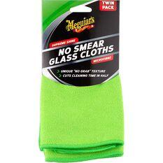 Meguiar's No Smear Glass Cloth Twin Pack, , scaau_hi-res