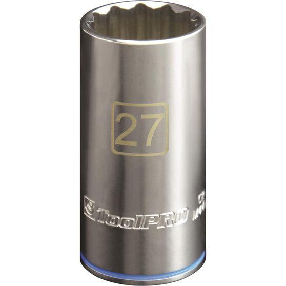 ToolPRO Single Socket - Deep, 1 / 2 inch Drive, 27mm, , scaau_hi-res