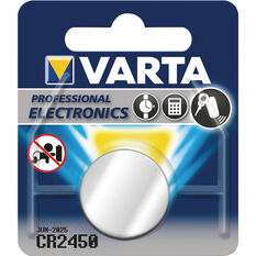 Varta Lithium Coin Battery - CR2450, 1 Pack, , scaau_hi-res