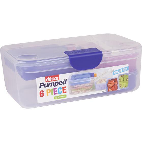 décor 6 Piece Lunch Box 2.25L, , scaau_hi-res