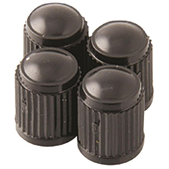 SCA Valve Caps - Standard Black, 4 Piece, , scaau_hi-res