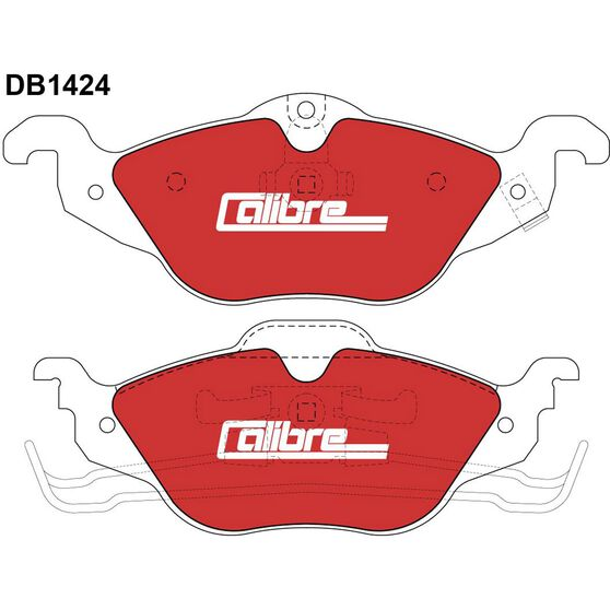 Calibre Disc Brake Pads - DB1424CAL, , scaau_hi-res