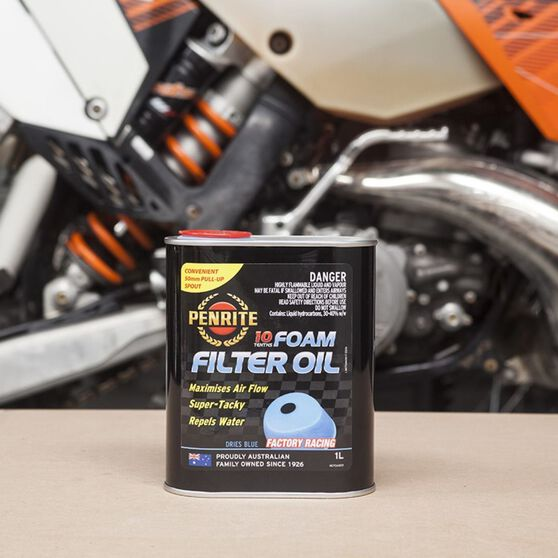 Penrite 10 Tenths Foam Air Filter Oil 1 Litre, , scaau_hi-res
