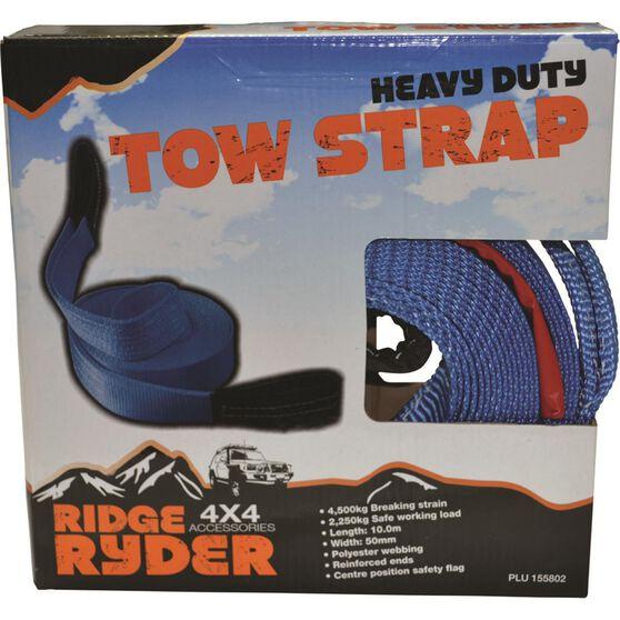 Ridge Ryder Tow Strap Webbing - 10m, 4500kg, , scaau_hi-res